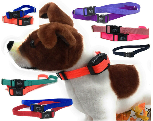 """Sparky Pet Co Nylon 2- 3/4"""" Wide Replacement Dog Collar Strap for Vibration Bark Control (Set of 2)"""