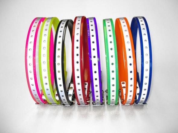 "Sparky Pet Co 3/4""Reflective Receiver High Flex Strap 800 350 400 425 -7 Colors"