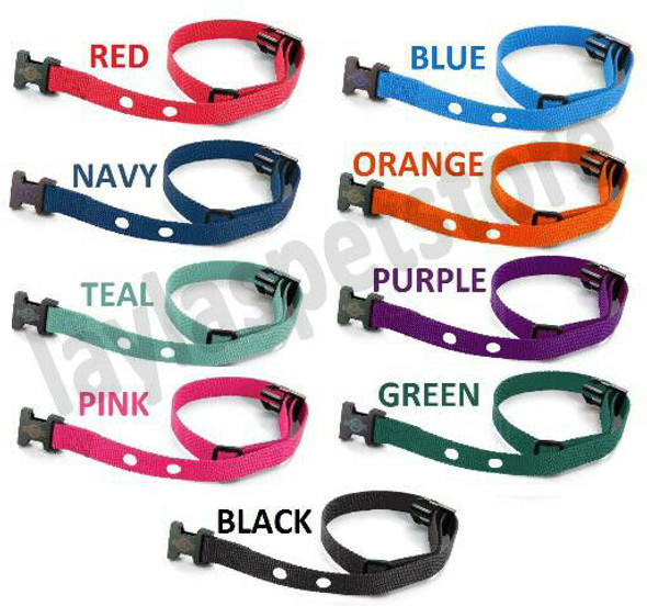"Grain Valley 3/4"" Replacement Strap Fits All Bark Collars- RFA 41 Colors"
