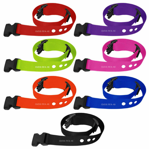 "Grain Valley 1"" Replacement Strap Fits All Bark Collars-RFA 48 7 Colors"