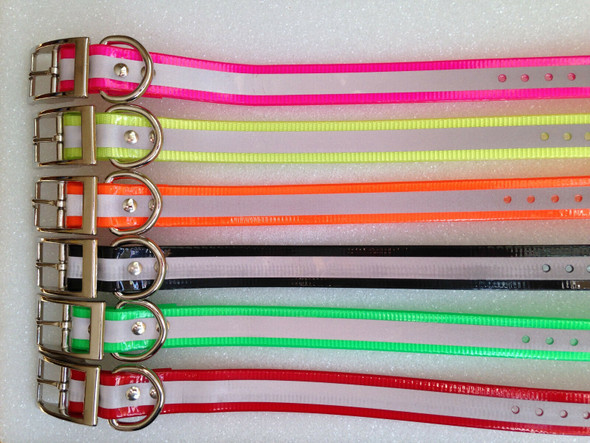 Sparky Pet Co E-Collar Compatible 3/4 Inch Receiver Reflective Dog Collar Strap