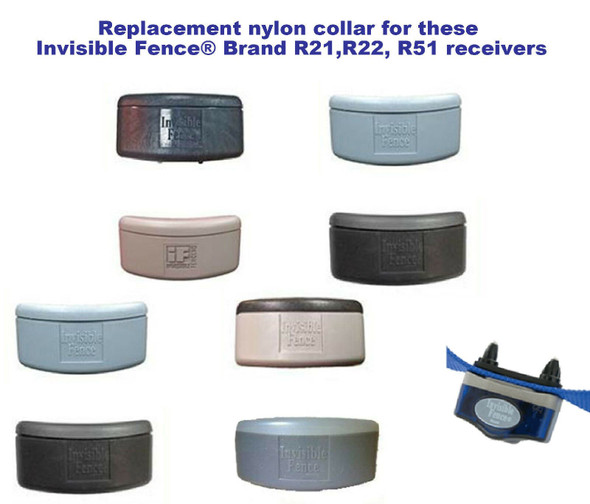 "Sparky Pet Co IF Compatible R21 R22 R51 Receiver Nylon Collar 3/4"" 2 Hole 1 5/8""- 10 Colors"