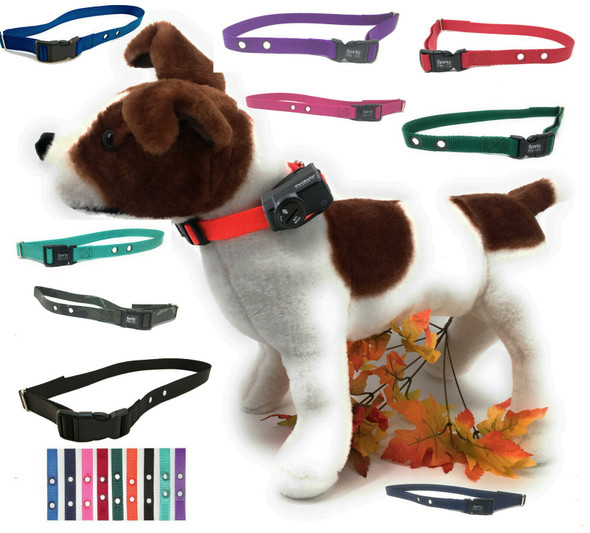 """Sparky Pet Co Electric Fence Nylon Receiver Strap 3/4"""" 2 Hole 1.25"""""""