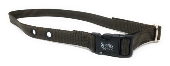 "Sparky Pet Co  Set of 2 - 1"" Underground Fence Nylon Universal Dog Collars 2 hole 1.25"" Apart"