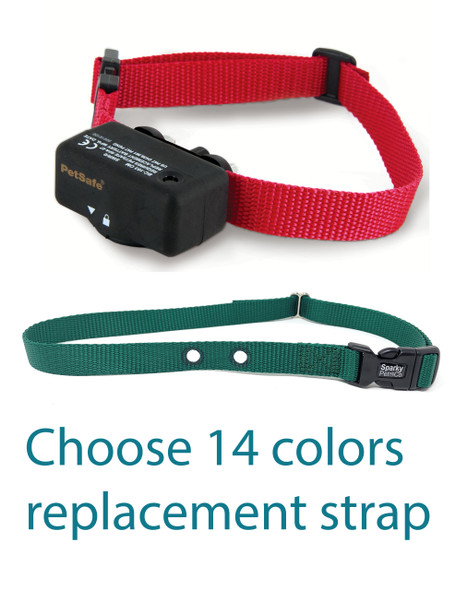 """Nylon 3/4"""" dog fence receiver replacement strap with 2 holes 1.25"""" apart"""