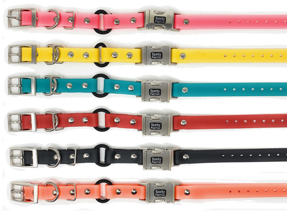 "Sparky Pet Co 3/4"" Biothane Bungee Double Buckle E-Collar Receiver Replacement Strap"