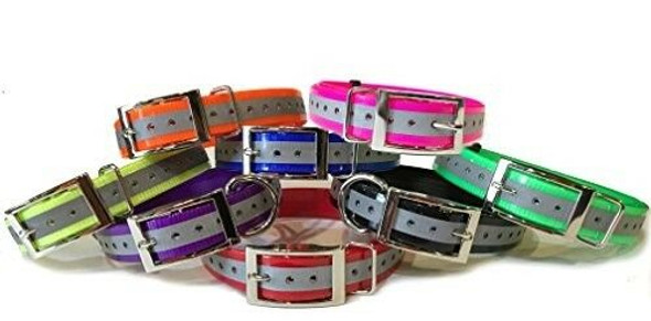 "Sparky Pet Co 3/4"" Square Buckle High Flex Reflective Dog Strap for Garmin Dogtra"