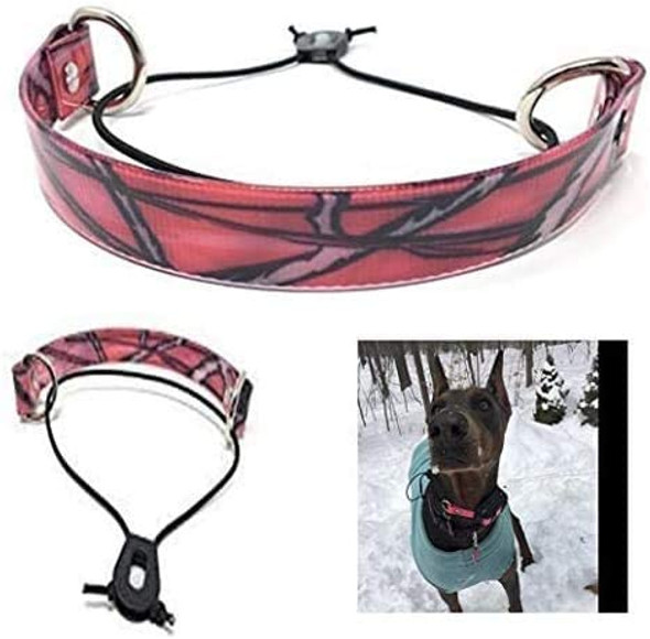 "Sparky Pet Co 1"" Pink Black Camo Biothane Waterproof E-Collar Surefit Electronic Dog Receiver Strap"