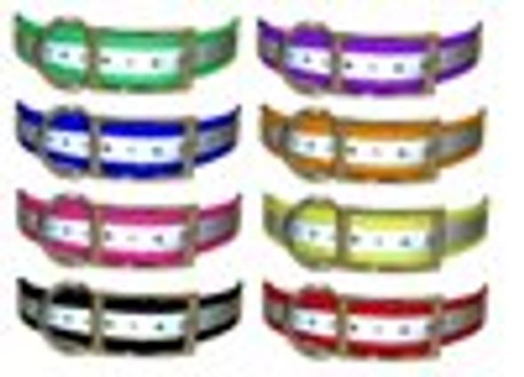 1 inch Universal Reflective Strap - Reflective Purple