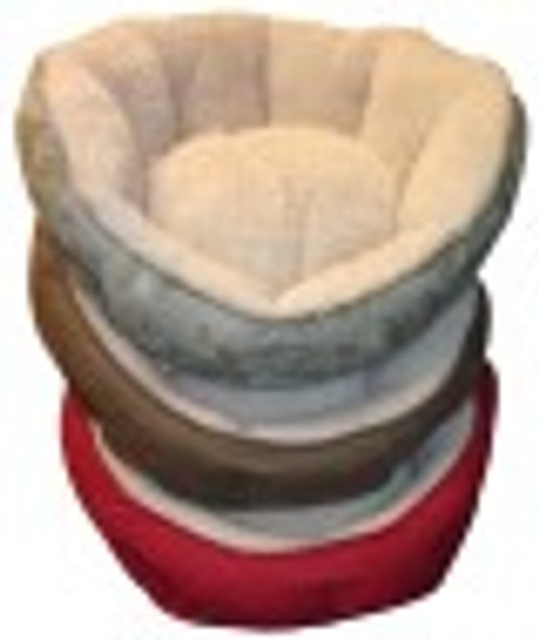 Clamshell Pet Bed - Chocolate Swirl