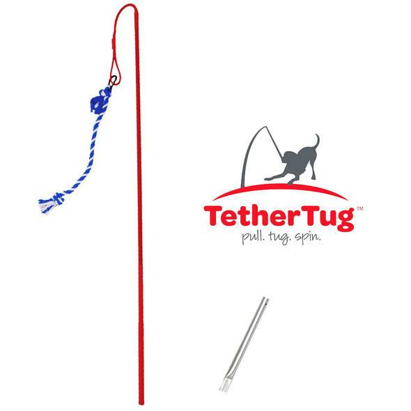 Tether Tug V2 Outdoor Dog Interactive Toy Tugging Pull Exercise 5-35 lbs and Up