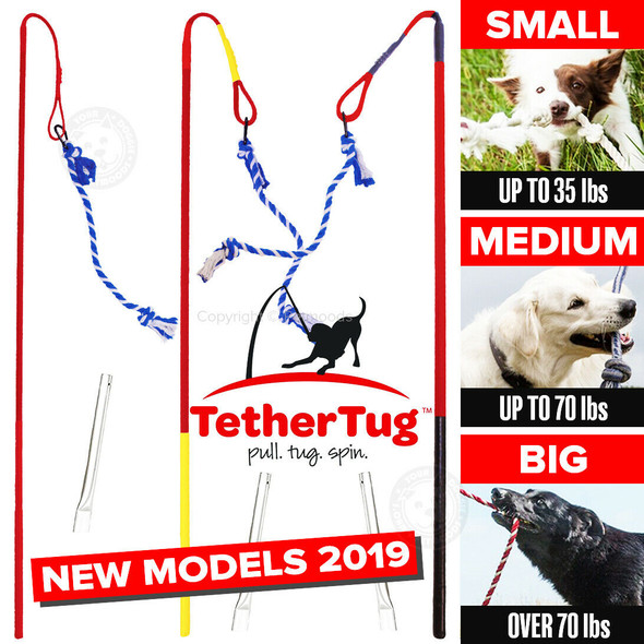 Tether Tug V2 Outdoor Dog Interactive Toy Tugging Pull Exercise 5-35 lbs