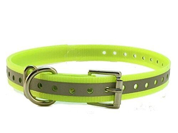 """Dogtra, Garmin, E-Collar 3/4"""" Roller Buckle Hi Flex Reflective Yellow Strap"""