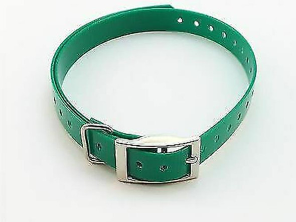 1 Inch Collar, Sq Buckle, Dark Green Tri-Tronics Compatible By Sparky Pet Co