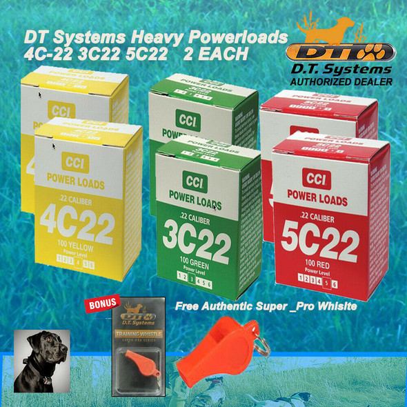 DT Systems Super-Pro Dummy Launcher 100 Power Loads Yellow,Red,Green 2 Of Each