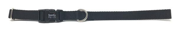 Leather Brothers Kwik Klip Adjustable Dog Collar Medium Black