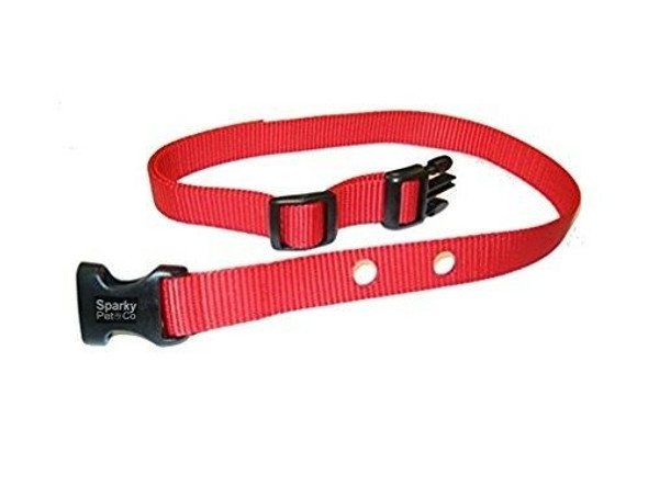 "Dog Fence Receiver Heavy Duty Replacement Strap 1"", Red"