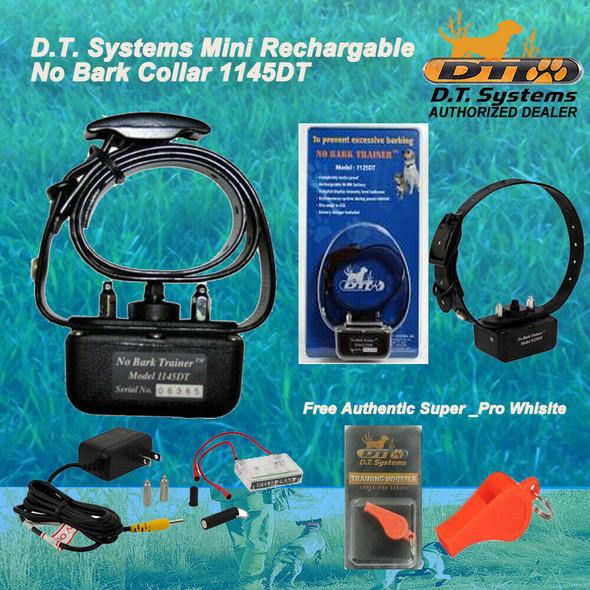 DT Systems Mini No Bark Dog Collar 1145DT Free Super Pro Orange Whistle
