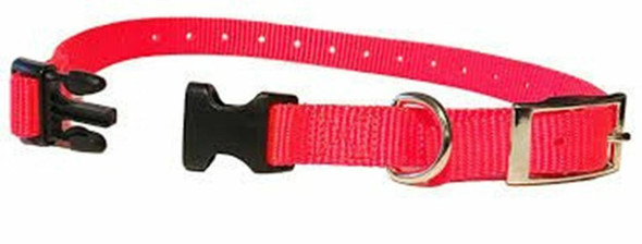 "Sparky Pet Co E-Collar Compatible 3/4"" Nylon Mini Double Buckle Quick Snap Strap"