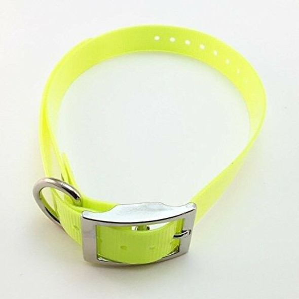"Sparky Pet Co Universal 3/4"" Square Buckle Hi Flex Reflective Strap - Neon Yellow"