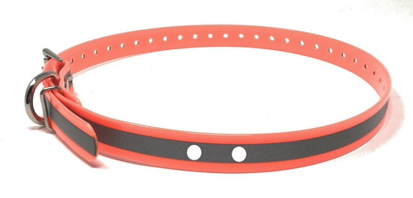 "3/4"" E-Collar Compatible 2 hole 1.25"" Reflective High Flex Rollerbuckle Strap"