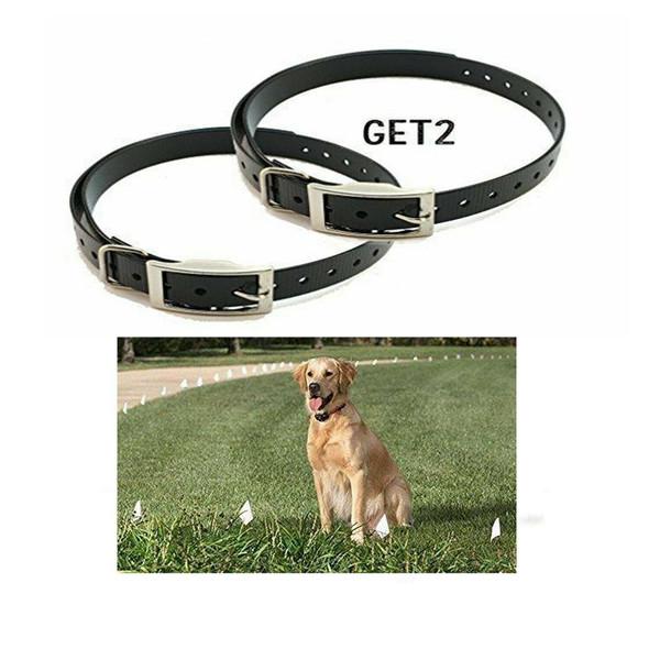 """0 Dogtra, Garmin, E-Collar 3/4"""" Black Square Buckle High Flex Dog Straps"""