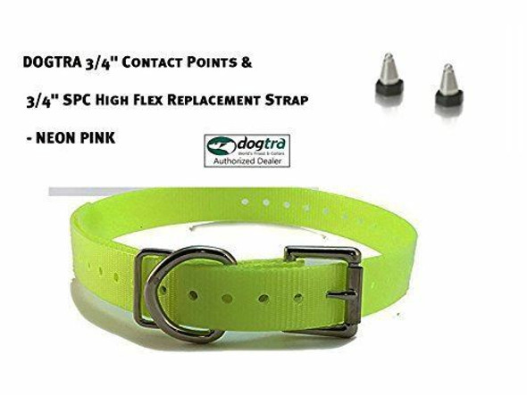 """Dogtra 3/4"""" Contact Points & 3/4"""" Sparky Pet Co High Flex Replacement Strap"""