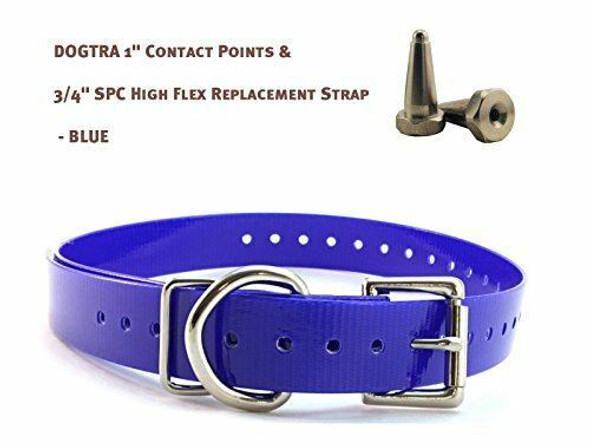 """Dogtra 1"""" Contact Points & 3/4"""" Sparky Pet Co High Flex Replacement Strap"""