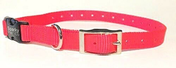 "Sparky Pet Co E-Collar Compatible 3/4"" Double Buckle Quick Snap Replacement Strap"