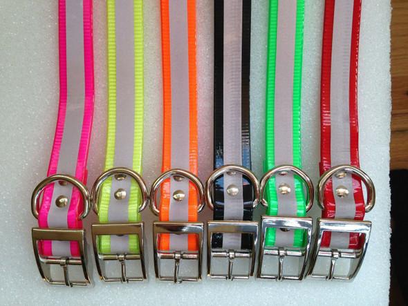 "Replacement Collar Strap for Garmin TT10 Alpha Collar Reflective Dayglow-1"""