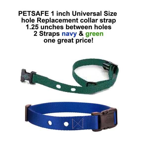 "1"" Universal 2 Hole 1.25"" Apart Replacement Straps- 2 Straps Navy Green"