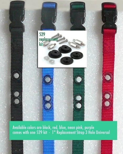 "1"" Receiver Strap 3 Non Consecutive Hole Plus RFA 529 Kit"