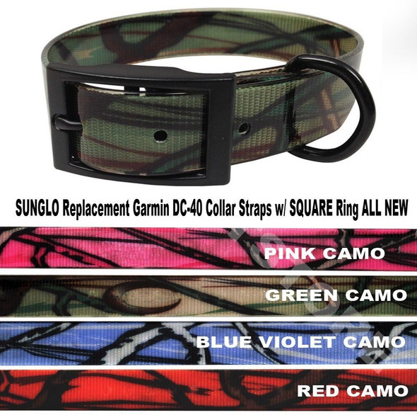 1 Inch Sunglo Camo Universal Heavy Duty Dog Fence Replacement Strap 4 Colors