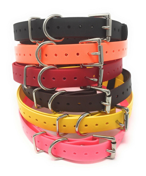 """Genuine E-Collar 3/4"""" Biothane Dog Straps- 6 Colors To Choose From"""