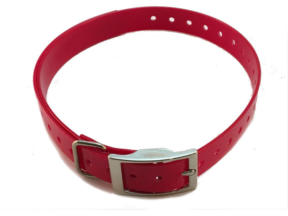 1 Inch Collar, Sq Buckle, Red Tri-Tronics Compatible By Sparky Pet Co