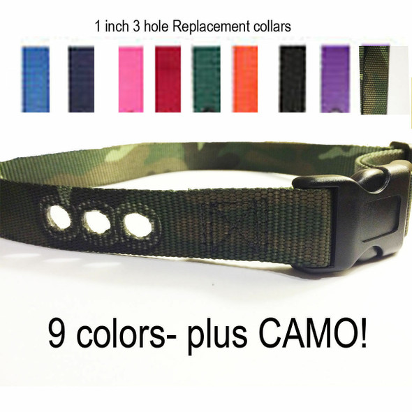"""1"""" Dog Fence PIF-275-19 Replacement Collar Strap RFA 48 Camo + Colors"""