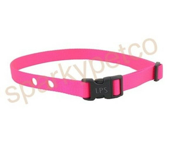 "Sparky Pet Co RFA 41 3/4"" Nylon 2 Hole 1.25"" Apart Receiver Strap Bark Pink"