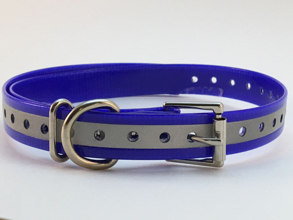 E-Collar Compatible 3/4 Inch Reflective Replacement Dog Collar Strap