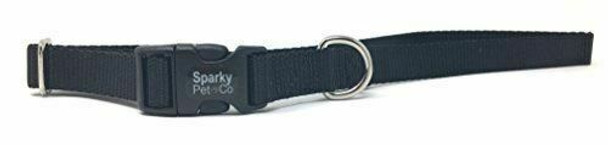 "Sparky Pet Co 1"" Universal Clip-N-Go Adjustable Nylon Dog Collars"