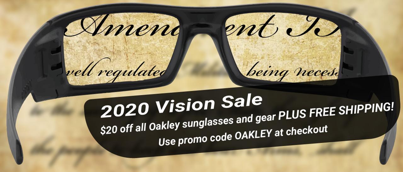 $20 off all Oakley sunglasses using promo code OAKLEY