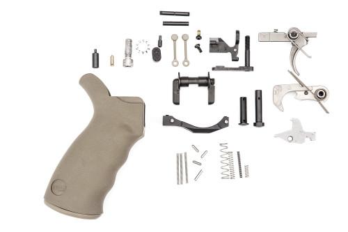 Spikes Tactical AR-15 Enhanced Lower Parts Kit, Complete, Semi-Auto FDE - SLPK302