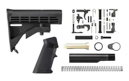 Aero Precision AR15 Mil-Spec Carbine Lower Build Kit w/ M4 Stock - APSL100310