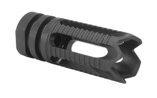 "Yankee Hill Machine AR-15 Phantom Flash Hider 1/2""x28 Threaded 5 Port Steel Toothed Black YHM-28-5C-2"