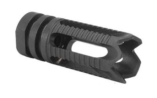 "Yankee Hill Machine AR-15 Phantom Flash Hider 1/2""x28 Threaded 5 Port Steel Toothed Black YHM-28-5C-2"
