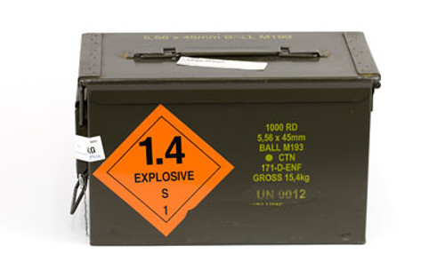 Century Arms PMP 5.56 NATO Ammunition 1000 Rounds 55 Grain FMJ M193 Ball with Ammo Can