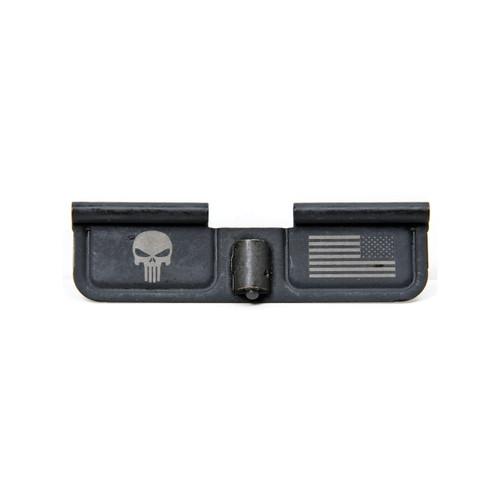 Spike's Tactical Ejection Port Door - Punisher & Flag Engraving (SPKSED7005)