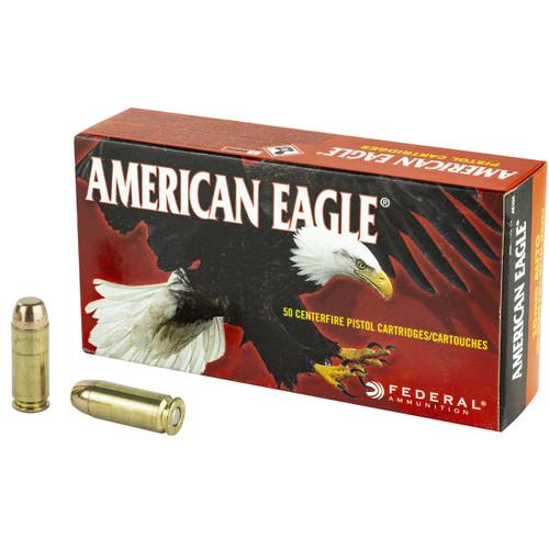 Federal American Eagle, 10mm Auto, 180 Grain FMJ, 50rd Box