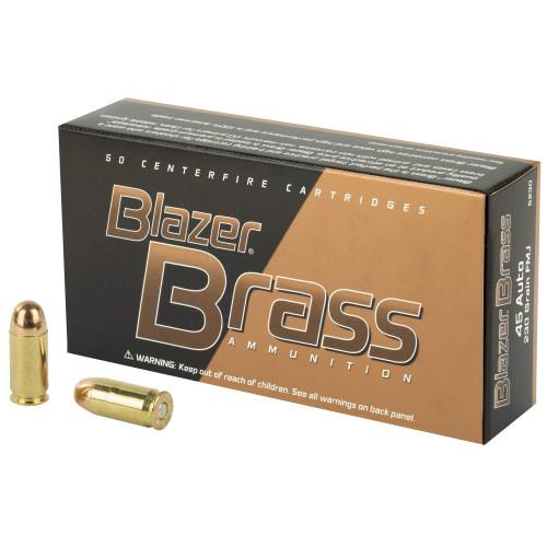 Blazer Ammunition, Blazer Brass, 45 ACP, 230 Grain, Full Metal Jacket, 50 Round Box - CCI5230