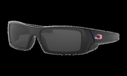 Oakley Standard Issue Gascan, Matte Black Frame with USA Flag Frame and Grey Lenses - 11-192