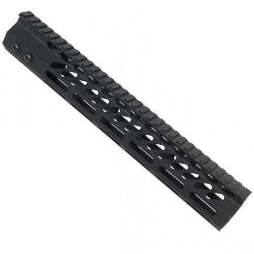 "Guntec AR-15 12"" Ultra Slimline Octagonal 5 Sided M-LOK Free Floating Handguard"